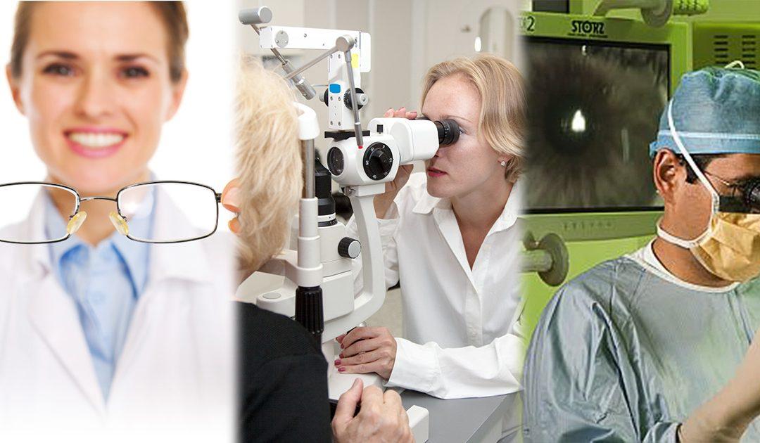 Principales diferencias entre oftalmólogo oculista y óptico optometrista